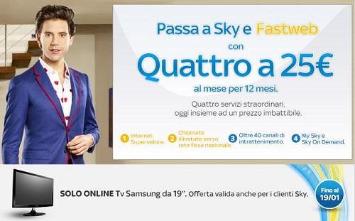 promozione abbinata sky,fastweb, samsung