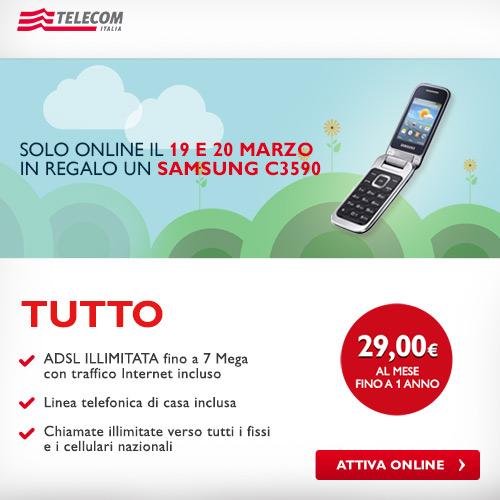 Cellulare in regalo per i nuovi clienti telecom telefono for Tutto in regalo