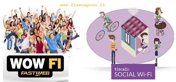 il social wifi di Fastweb e tiscali
