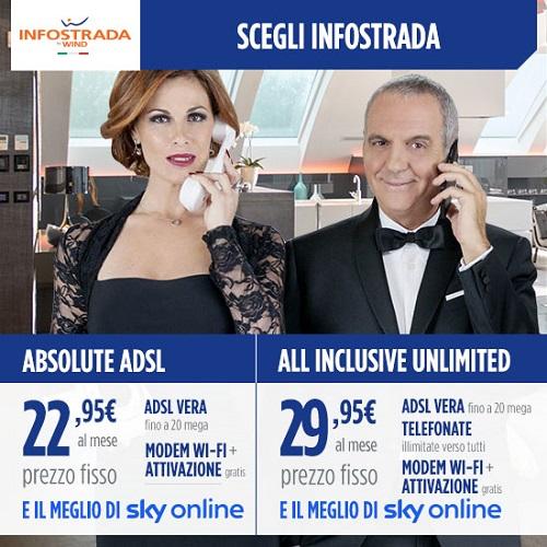 promo infostrada + Sky On Line