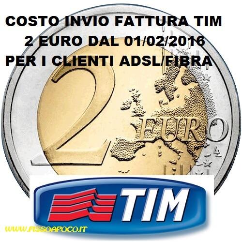 TIM INVIO FATTURA 2 EURO
