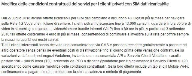 Vodafone aumenti contrattuali