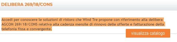 wind infostrada pratica di rimborso 28 giorni